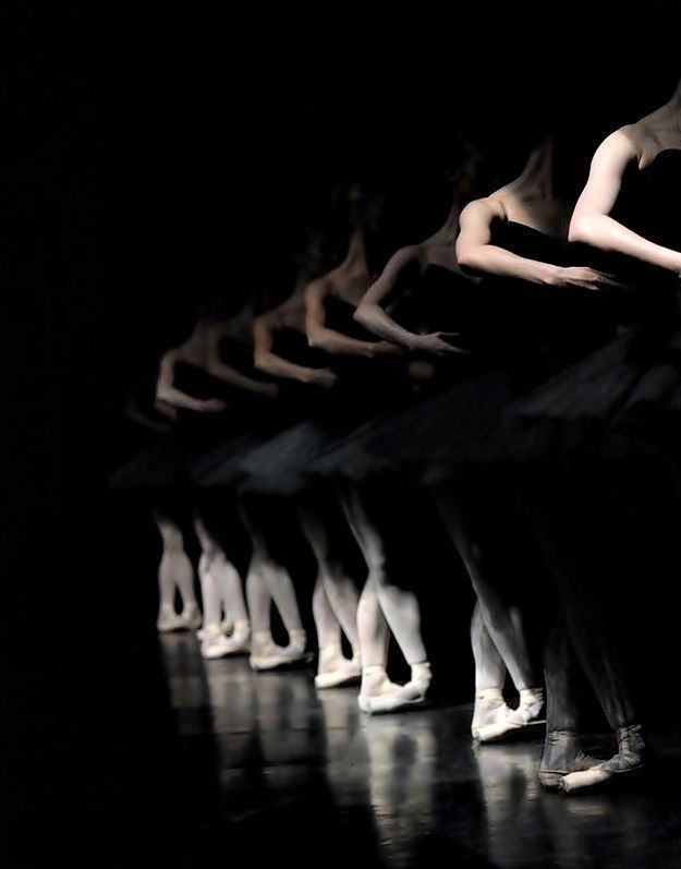 Beautiful play of black and white on dancers!