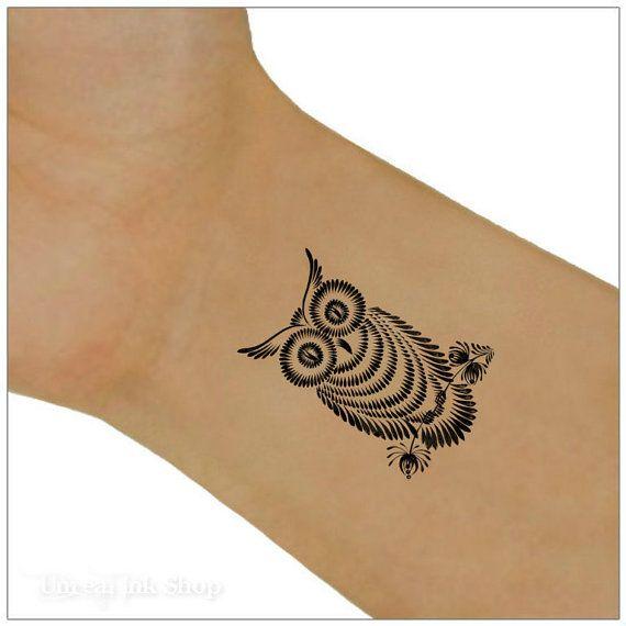 Owl Temporary Tattoo 2 Wrist Tattoos Tattoo S Tattoos Wrist