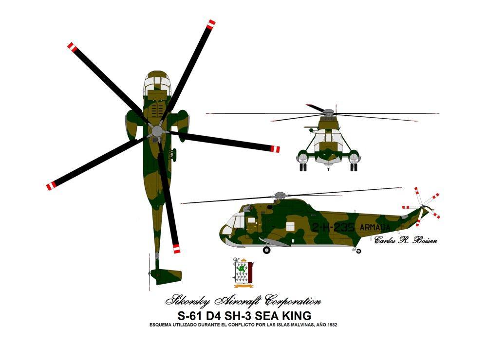 Sea King con esquema utilizado durante la guerra de Malvinas | WINGS ...