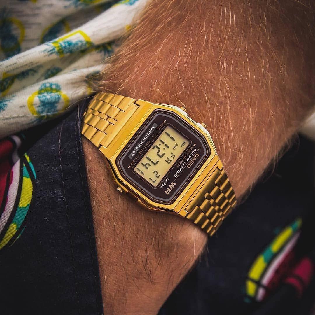 Casio A159wg Dorado Relojes Dorados Mejores Relojes Relojes Michael Kors Mujer
