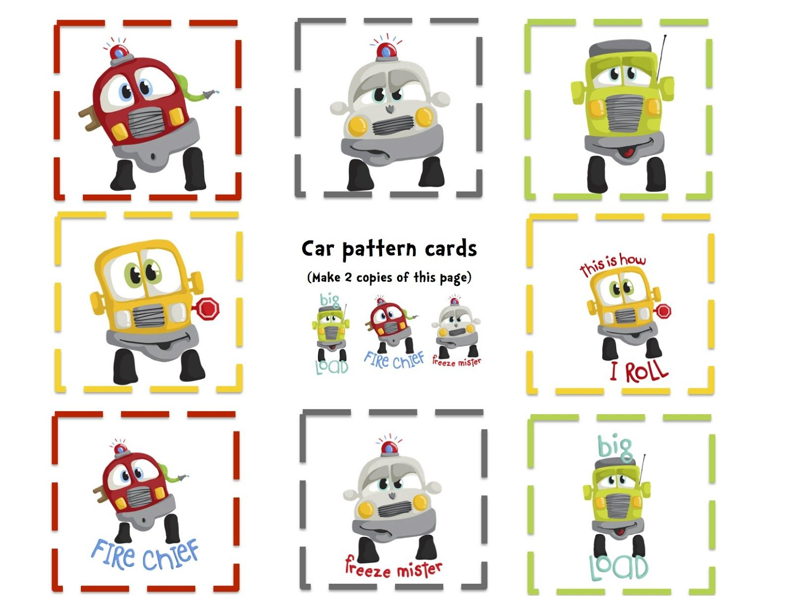 Preschool Printables Fun Cars Printable