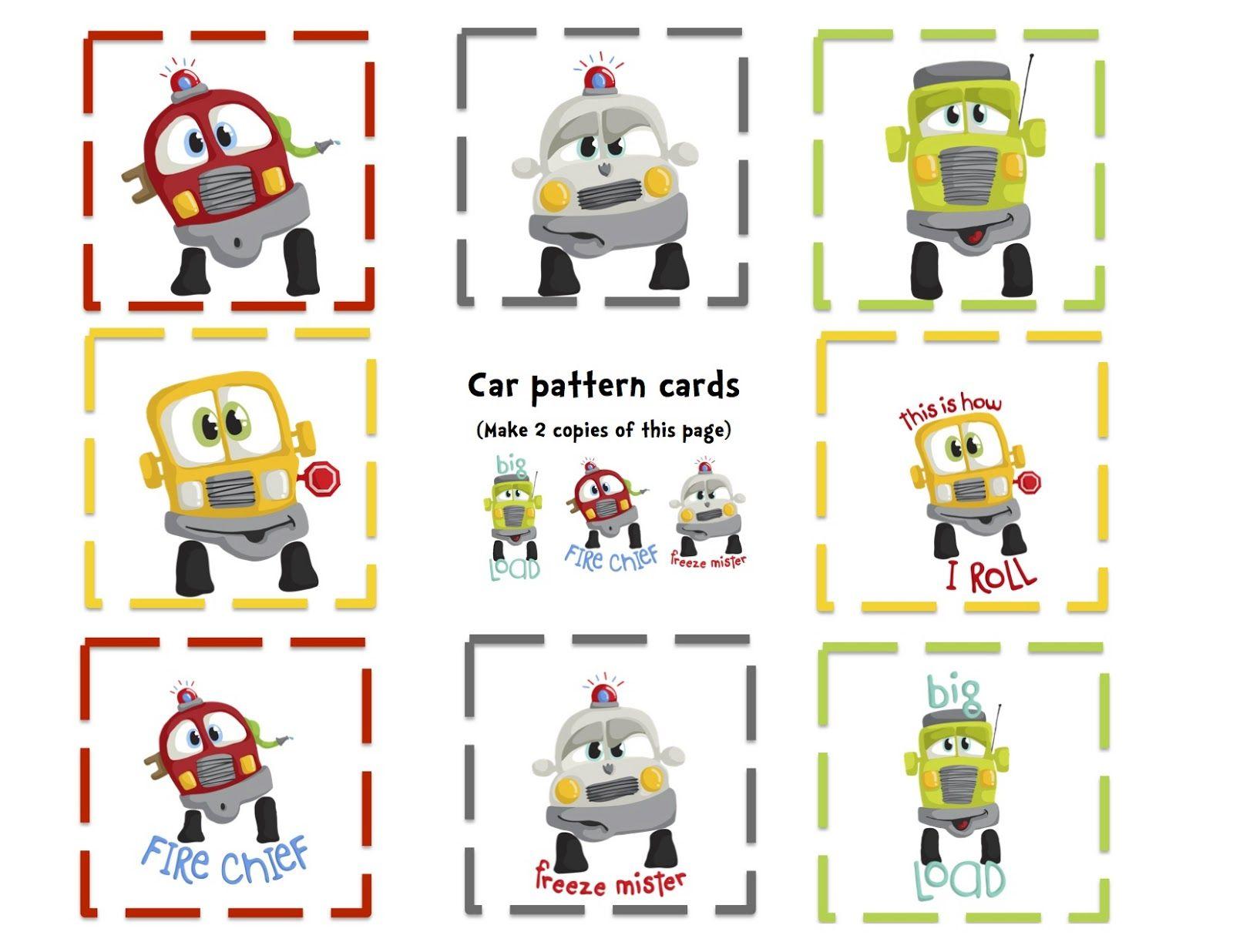 Preschool Printables Fun Cars Printable