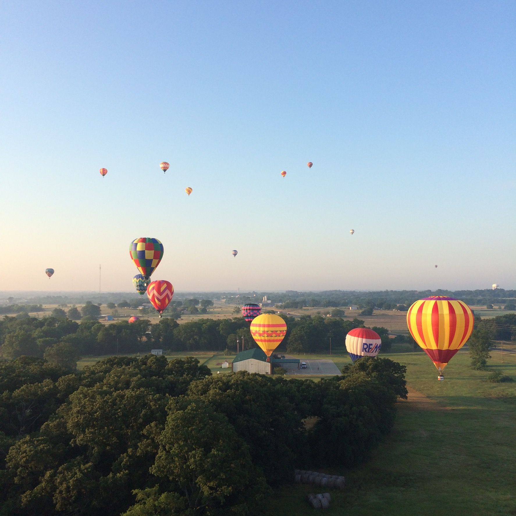 Hot Air Ballooning Hopkins County Dairy Festival in 2020