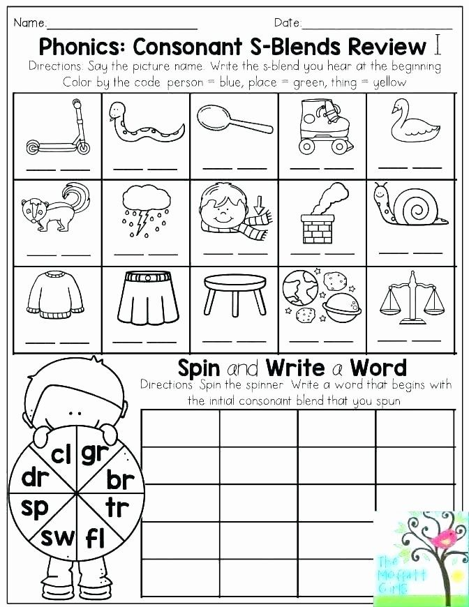 Blends Worksheets for 1st Grade Phonics Worksheets First ...