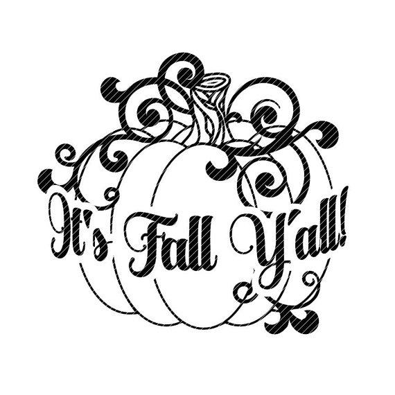 It's Fall ya'll svg Autumn Halloween pumpkin decal   Etsy