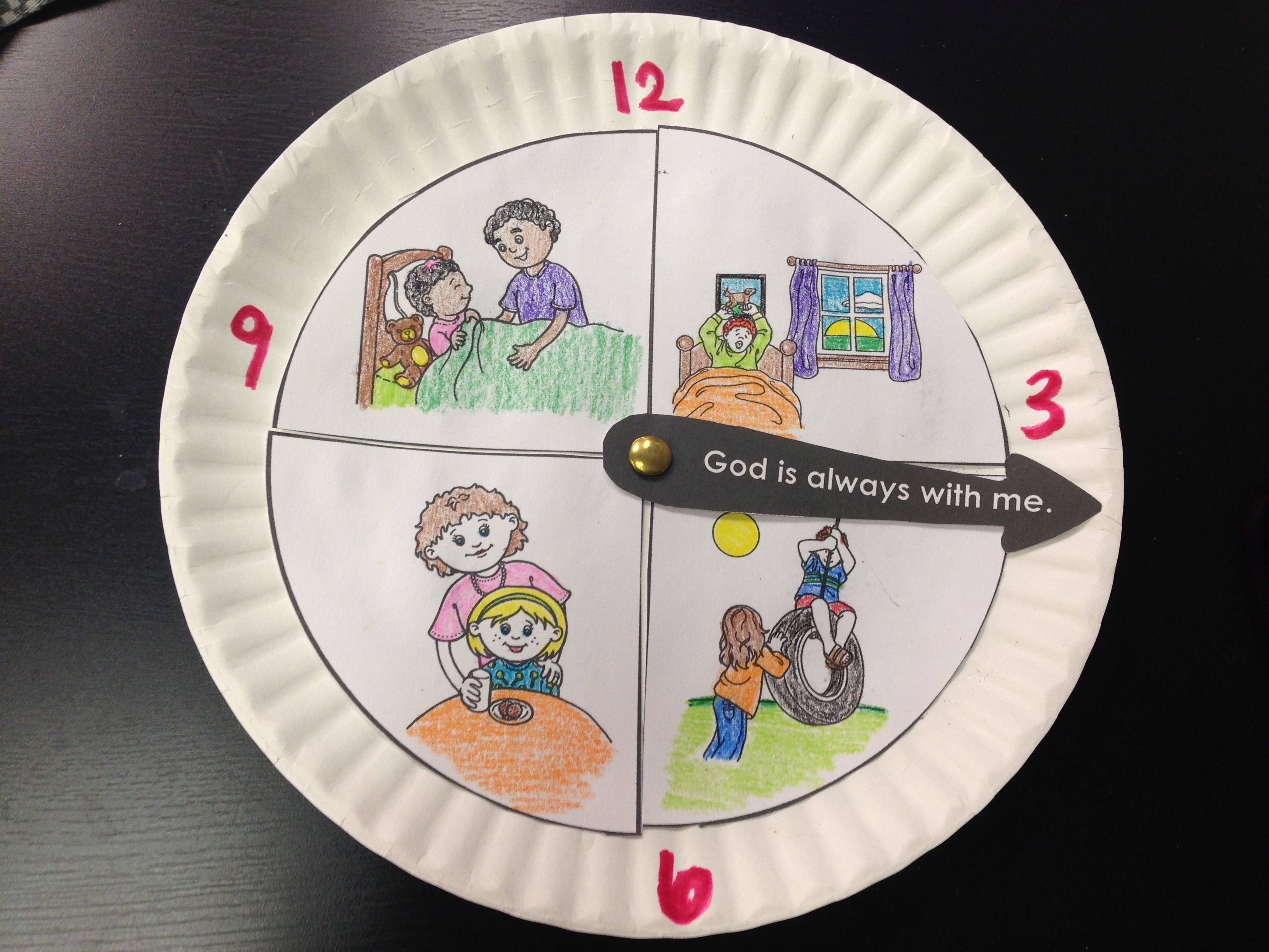 Inspiration For Paper Plate Clock Craft