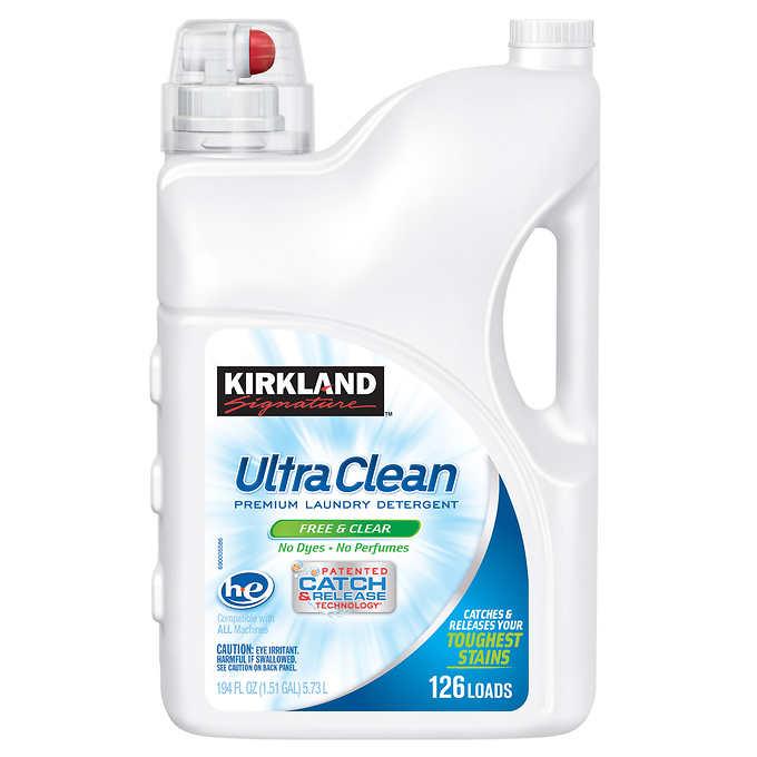 Kirkland Signature Ultra Clean Free Clear He Liquid Laundry