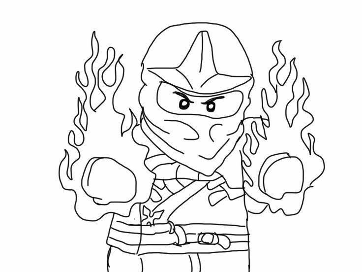 Fire Ninjago Coloring Pages Farglaggningssidor Malarbok