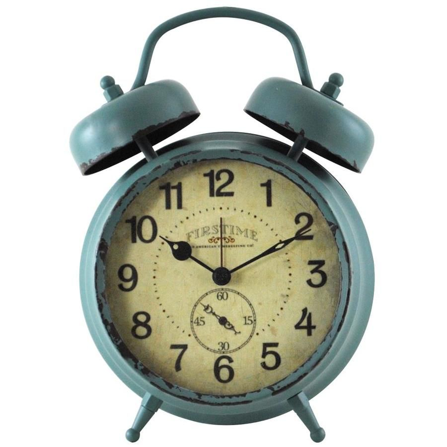 Firstime Firstime And Co Teal Double Bell Alarm Clock Lowes Com Retro Alarm Clock Vintage Alarm Clocks Tabletop Clocks