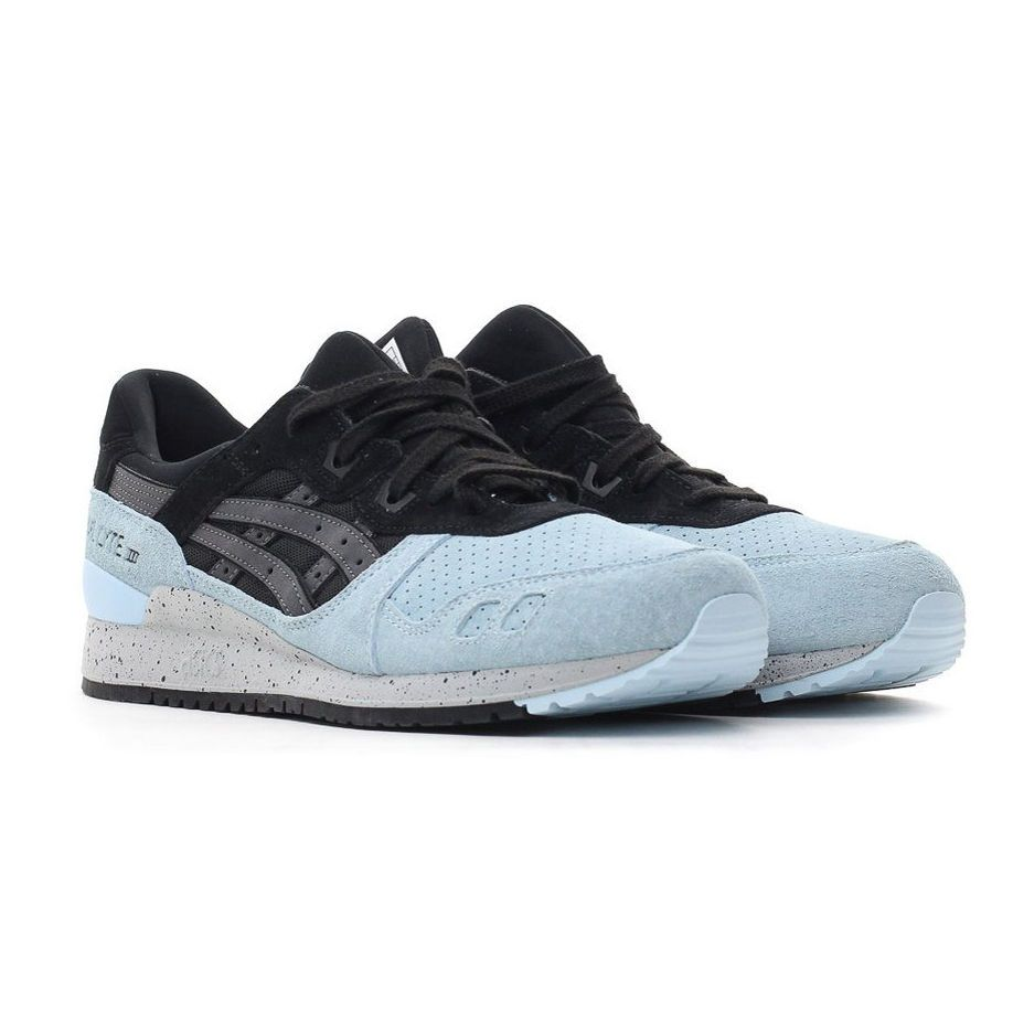 reputable site 415c1 e8542 Asics Tiger Gel-Lyte III 3 Black Light Blue Suede Classic ...