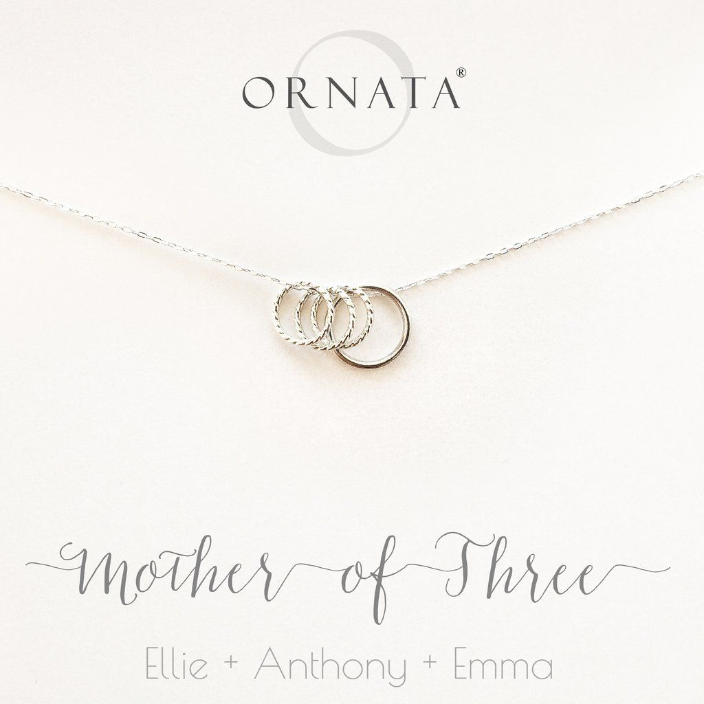 Mother Of Three Sterling Silver Necklace