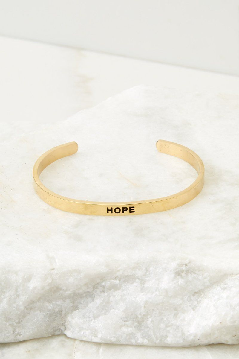 Hope gold bracelet in gold bracelets pinterest bracelets