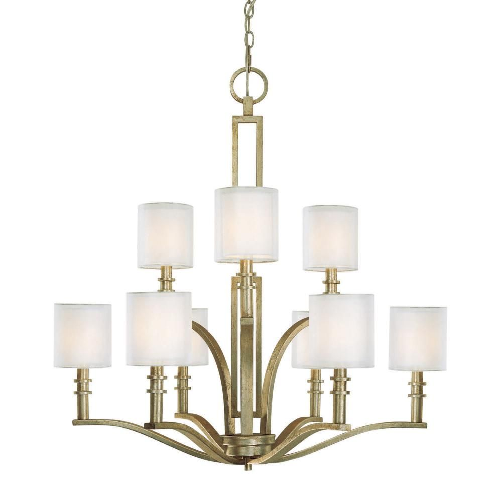 Nine Light Winter Gold Up Chandelier : SKU PQYH | Lamps & Shades Lighting Gallery