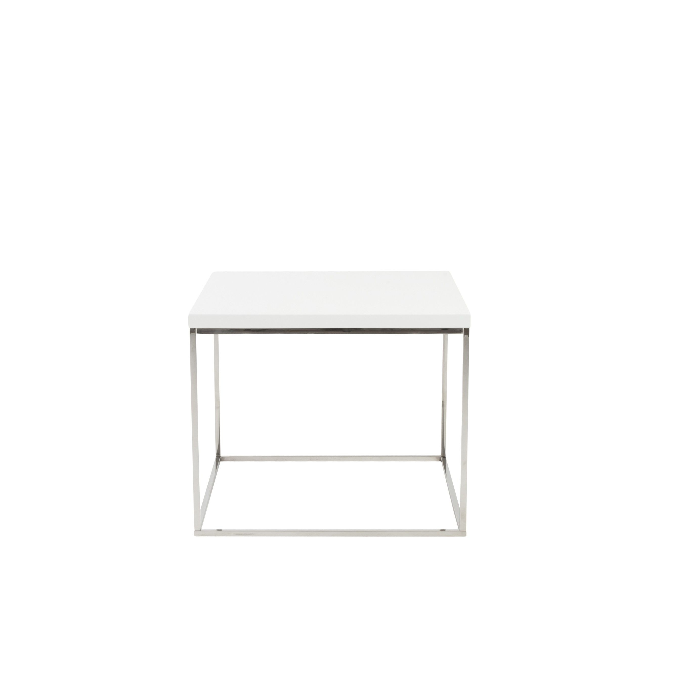 Kaitlin Side Table Ivory Unique Furniture Design
