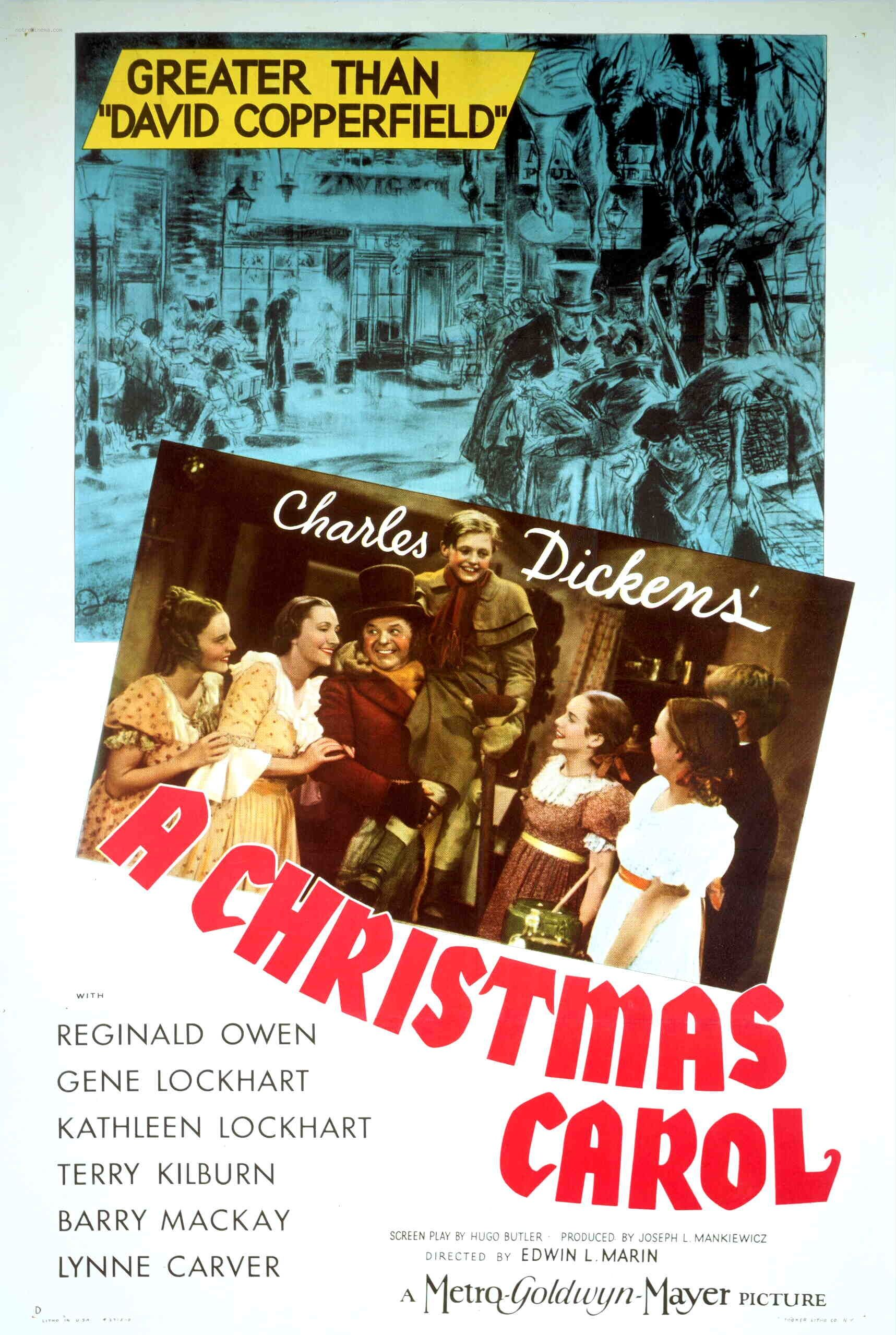 A Christmas Carol (1938) starring Reginald Owen, Gene