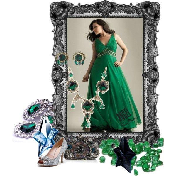 """Emerald angel"" by maria-kuroshchepova on Polyvore"