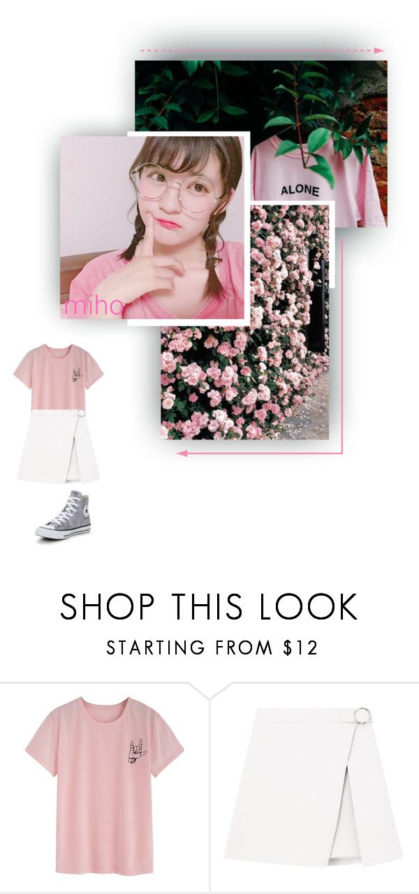 """Miho • With You • Indv. Scene"" by the1zno ❤ liked on Polyvore featuring Converse"