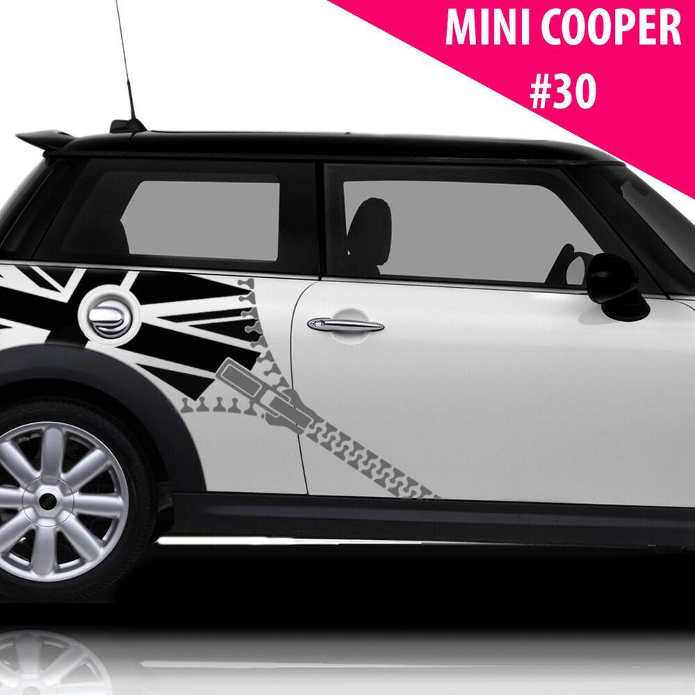 Fits Mini Cooper Side Racing Stripes Car Graphics Union Flag With Zipper Ebay In 2020 Mini Cooper Car Sticker Design Car Stickers