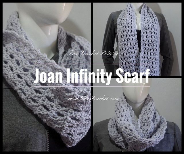 Free Crochet Pattern: Joan Infinity Scarf with photo tutorial to ...