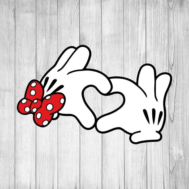 Download Disney Heart Hands 3 svg Mickey svg Minnie svg Disney ...