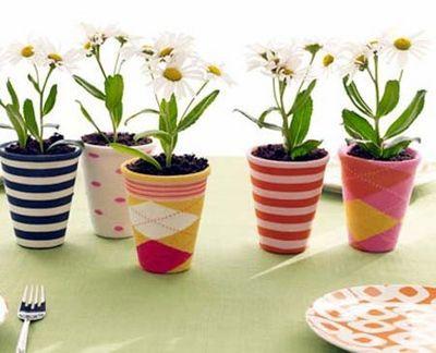 sock covered pots