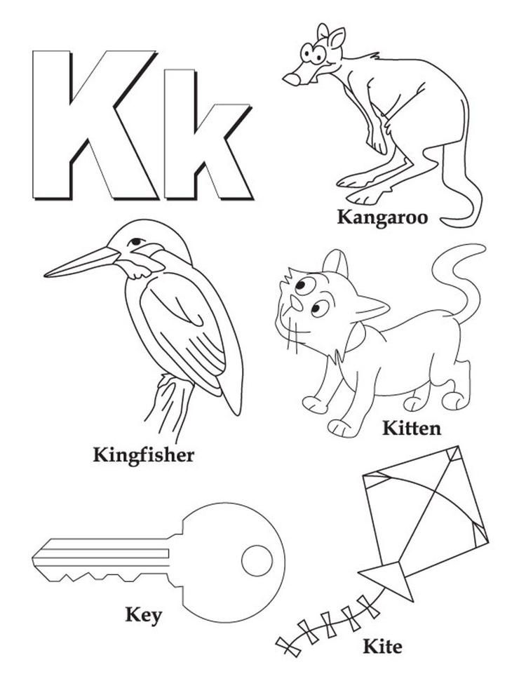 Words Alphabet Coloring Pages Free Book letters