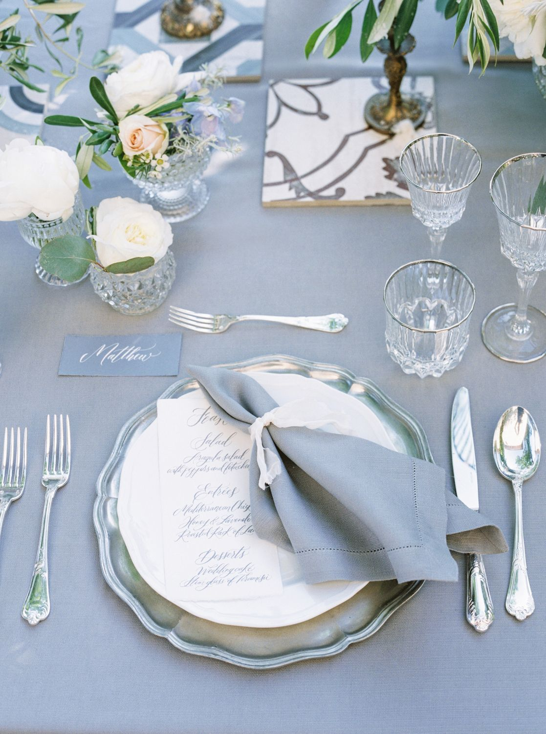 Italy Lovers, This Wedding Inspiration is For You. | Table setting ...