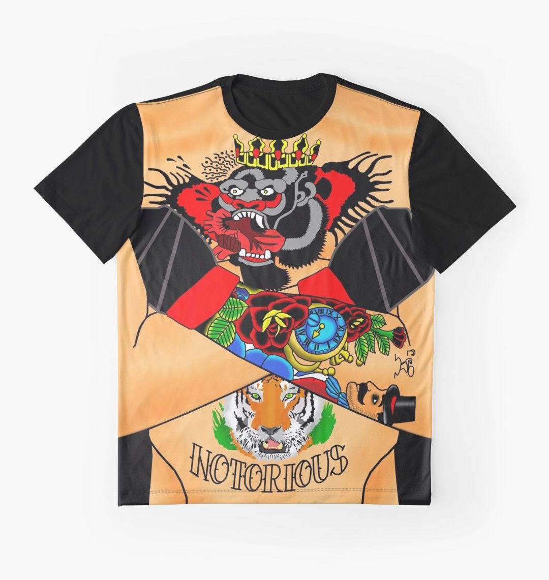 Conor arm tattoo shirt graphic t shirts by rolorega for Mcgregor tattoo shirt