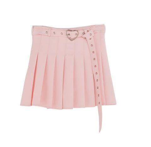 818132361b36 Spring and summer sweet college wind high waist love heart skirt ...