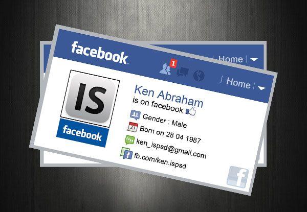 Facebook Card Psd