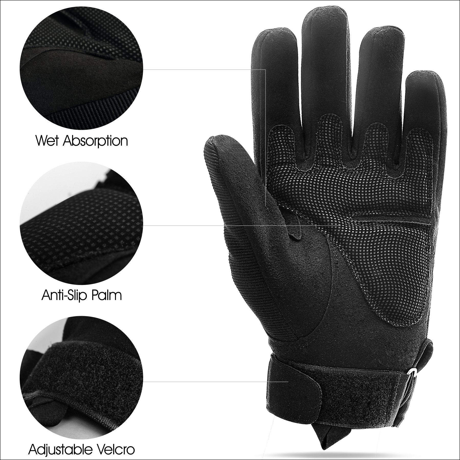 1Pair Army Tactical Half Finger Glove Outdoor Army Sports Hiking Work Gloves