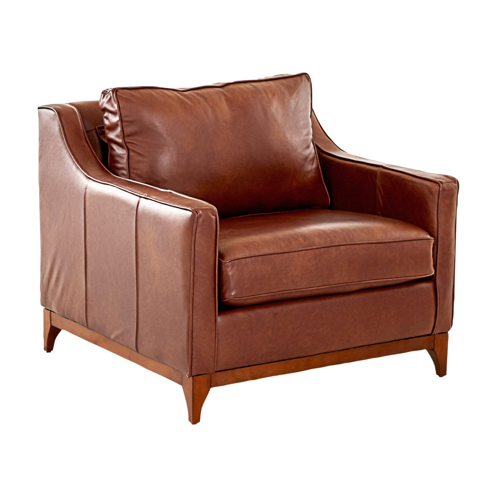 Avenue 405 Ansley Leather Arm Chair Driftwood In 2020 Armchair