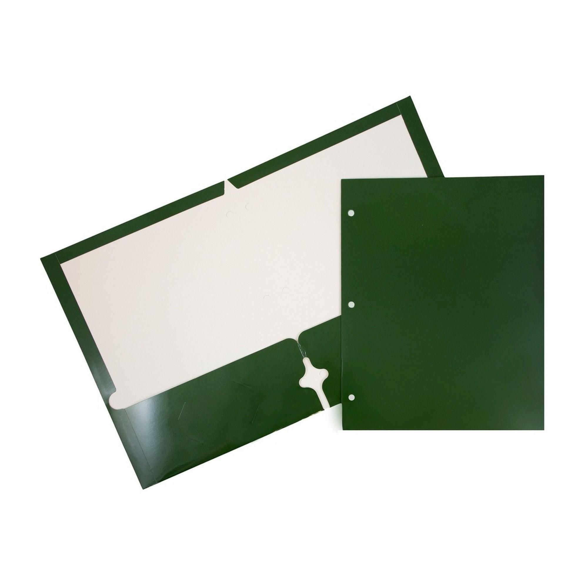 Jam Paper Glossy 6pk 2 Pocket Paper Folder Green Paper Folder