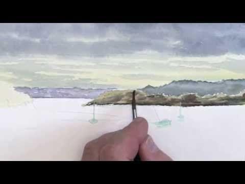 Comment Peindre LEau Les Reflets  LAquarelle  Youtube