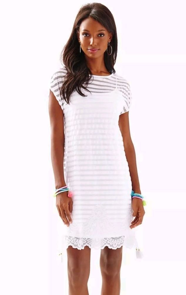 bbfaa5a6d9ae6b Lilly Pulitzer Adria Dress Turtle Bay Knit Mesh Stripe Resort White Size M  $178 | Clothing, Shoes & Accessories, Women's Clothing, Dresses | eBay!