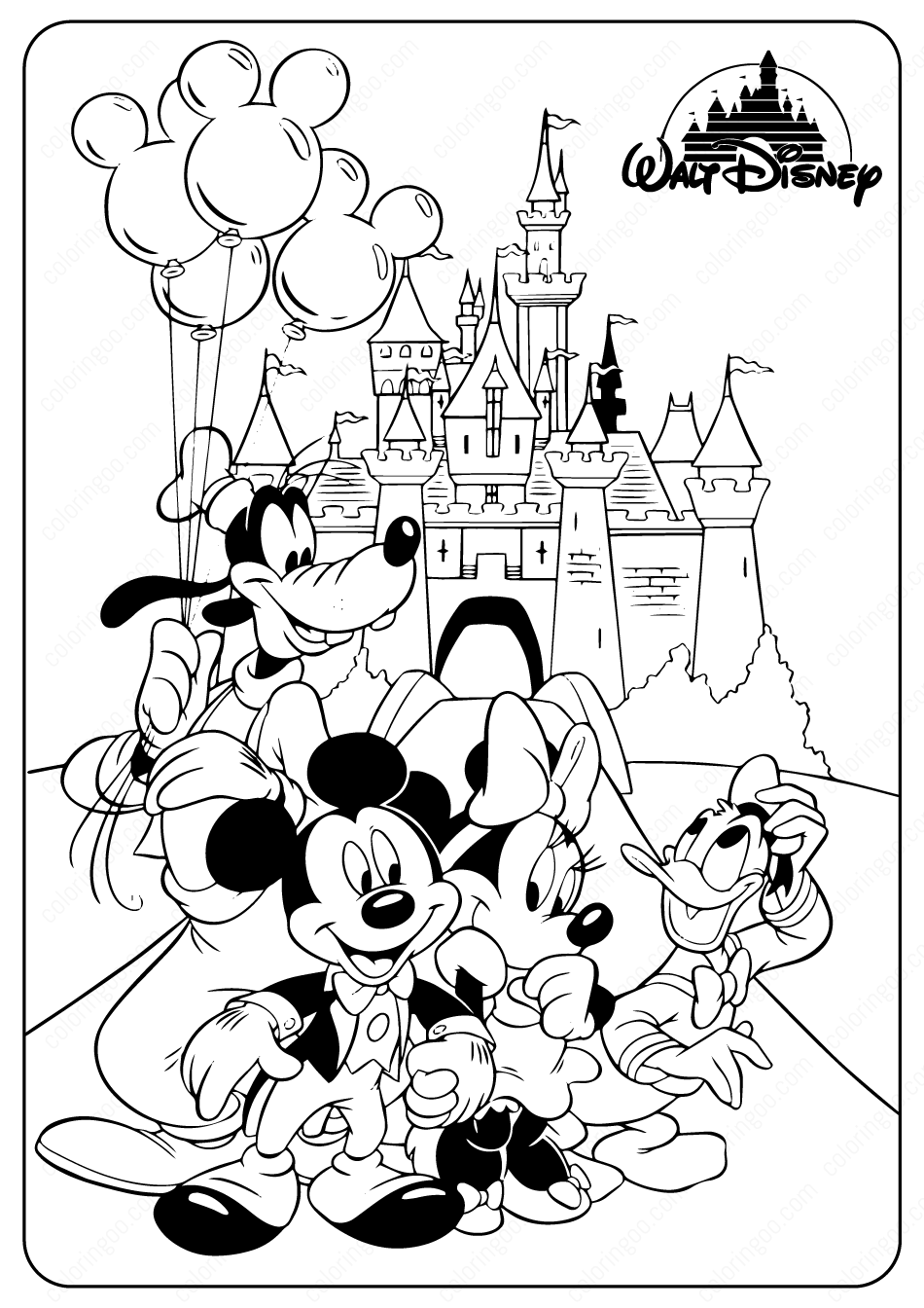 Minnie Mickey Mouse Coloring Pages In 2020 Disney Coloring Pages Cartoon Coloring Pages Disney Coloring Sheets