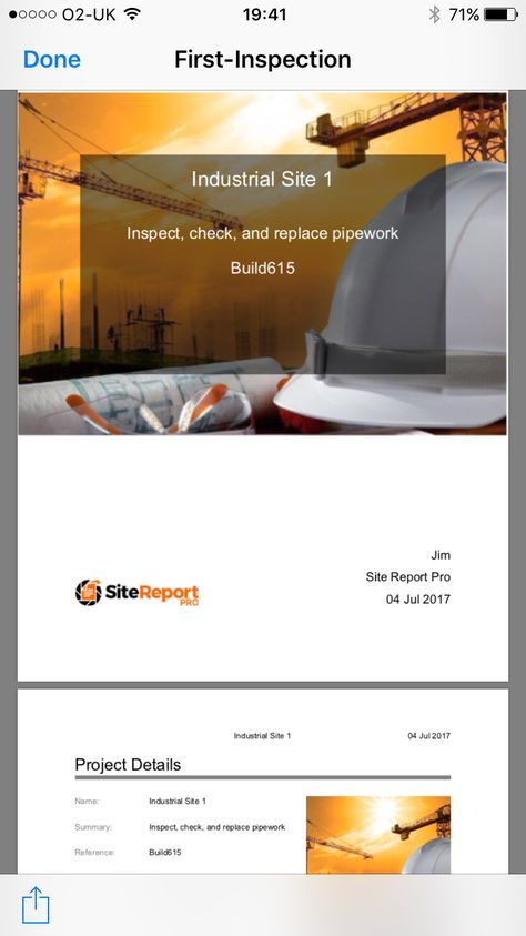 Site Report Pro PDF Report example Site Report Pro is the premier - how to create a report