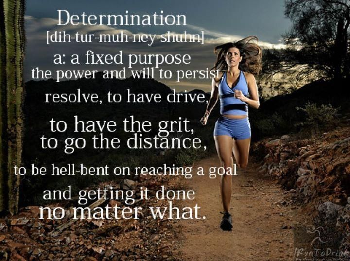 Desire is the key to motivation, but it's determination and commitment to an unrelenting pursuit of your goal - a commitment to excellence - that will enable you to attain the success you seek.  Cheers and #Run Happy!