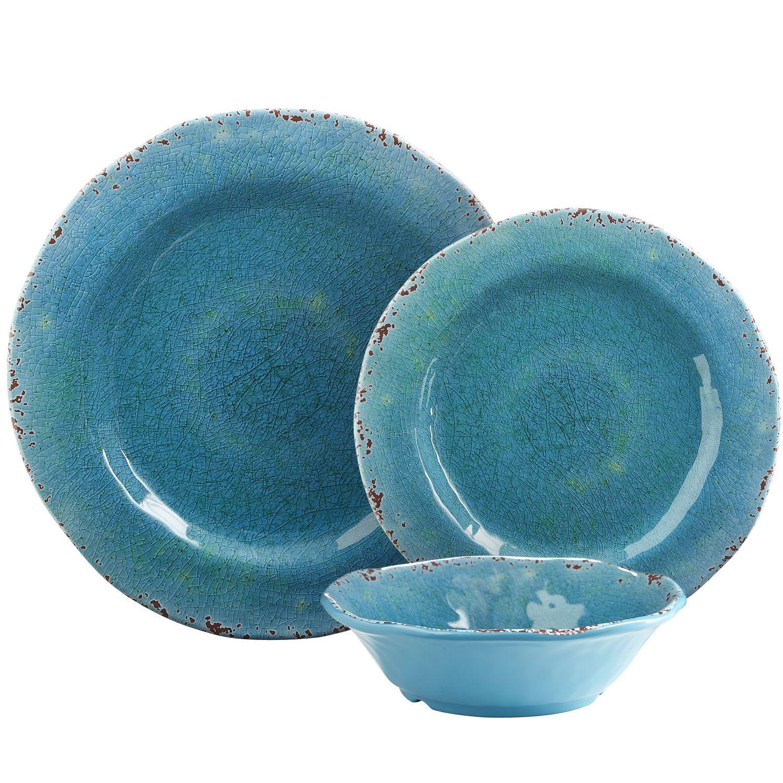 Carmelo Melamine Dinnerware Aqua Melamine Dinnerware Outdoor Dinnerware Dinnerware