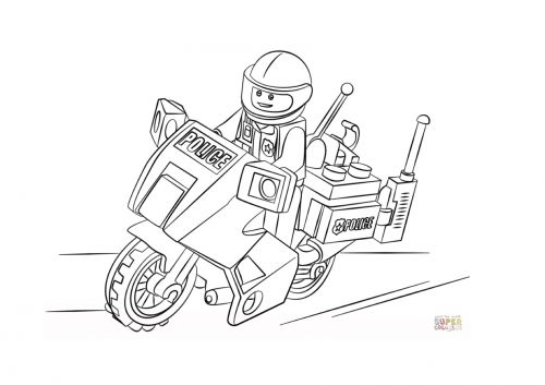 Лего Мото Police.jpg | kleurplaten | Pinterest | Dibujo