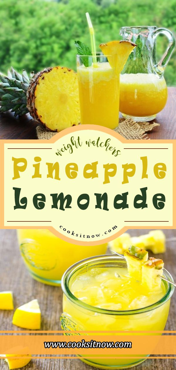 Pineapple Lemonade  Weight Watchers Smart Points Friendly #WW #Weight_Watchers #Pineapple_Lemonade #Pineapple #Lemonade #Famous_Recipe #Cooking #Cooksitnow #lemonadepunch