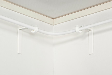 curtain rod for corner window rooms