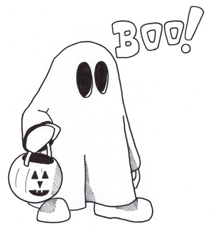 Costume Halloween Coloring Pages For Children Free