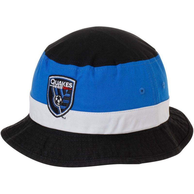 22a48f846f8 San Jose Earthquakes adidas Team Logo Bucket Hat - Black Blue ...