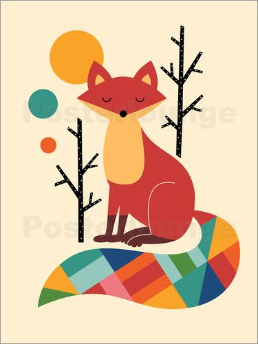 premium poster regenbogenfuchs foxes fuchs kunst. Black Bedroom Furniture Sets. Home Design Ideas