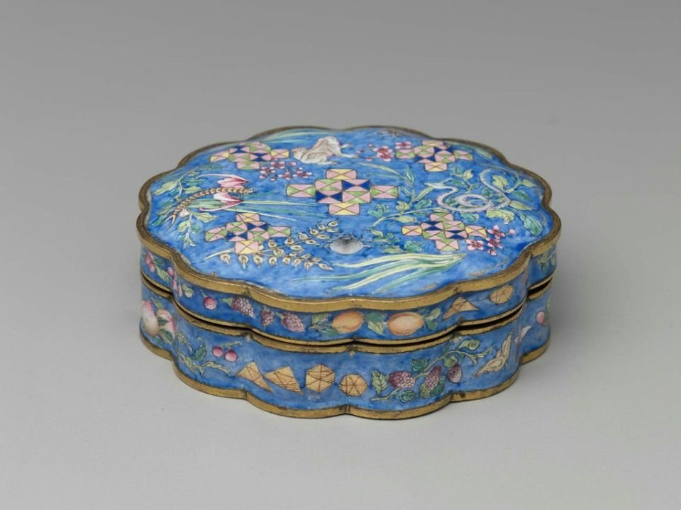 Painted enameled box, Chinese, Qing dynasty, Qianlong period, 1736–95.