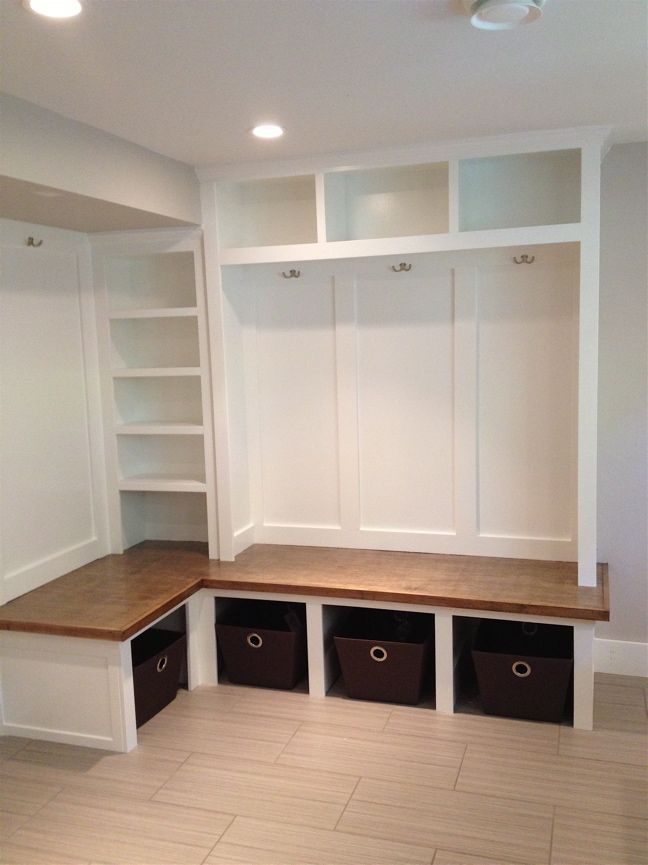 Our New White Mudroom Lockers For The Downstairs Entrance! Mudroom  CubbiesMudroom CabinetsShoe Storage ...
