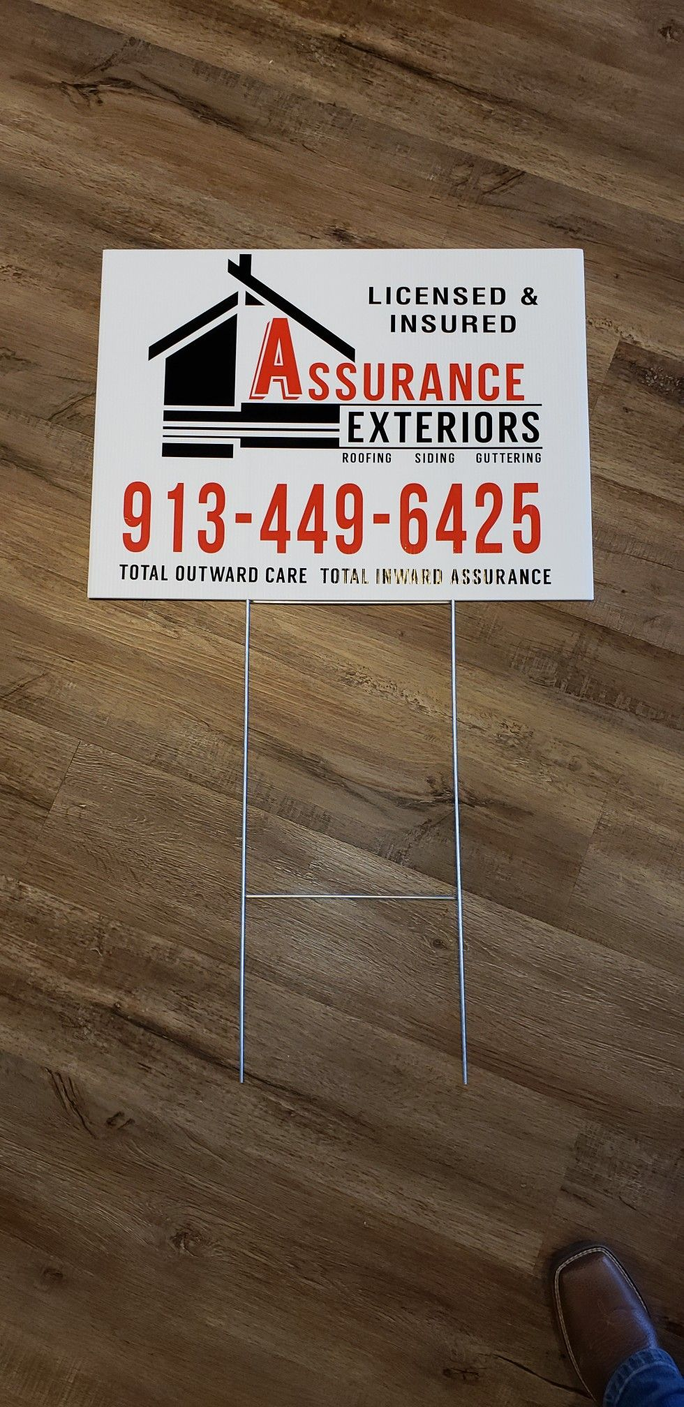 We Made More Yard Signs For Assurance Exteriors Wesellthose Shannon A Engler Brand Warrior Gm Lbm Solutions C Channel Letters Custom Sign Lettering