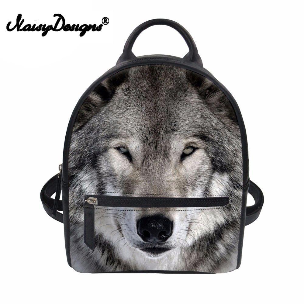 00a9dec5b970 Children Backpacks 3D Wolf Printing School Backpack Kids Shoulder ...