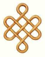 The Irish Celtic Longevity Knot... the symbolism behind their knots was connected to what 'not' to do. The Celts were famous for their ability to foresee via remote viewing they called scrying, and the person who had the 'second sight' ability was fey.